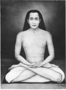 babaji_full_lotus_posture_black_and_white